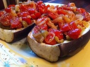 Melanzane al forno con salsina alle olive