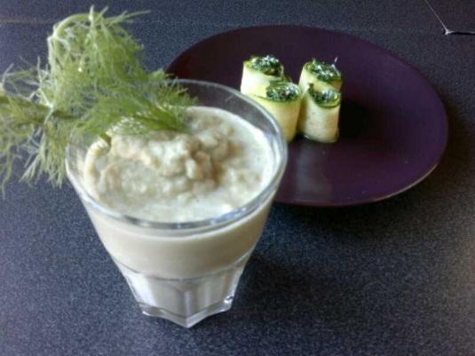 Zuppa finocchio e cocco