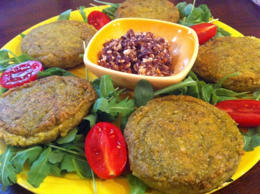 Vegan burger - Tofu e piselli