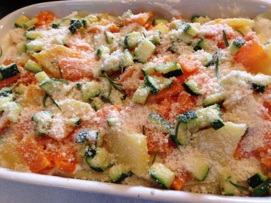 Lasagne alla ricotta con verdure